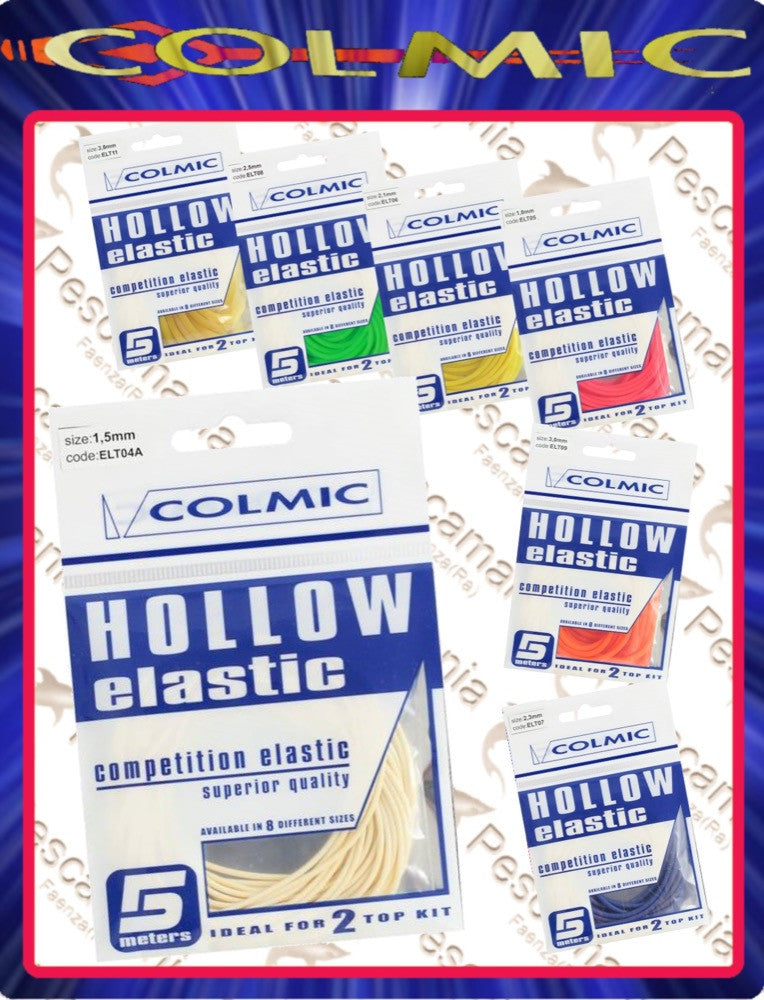 Colmic - Holle elastiek 1.2mm (5meter)