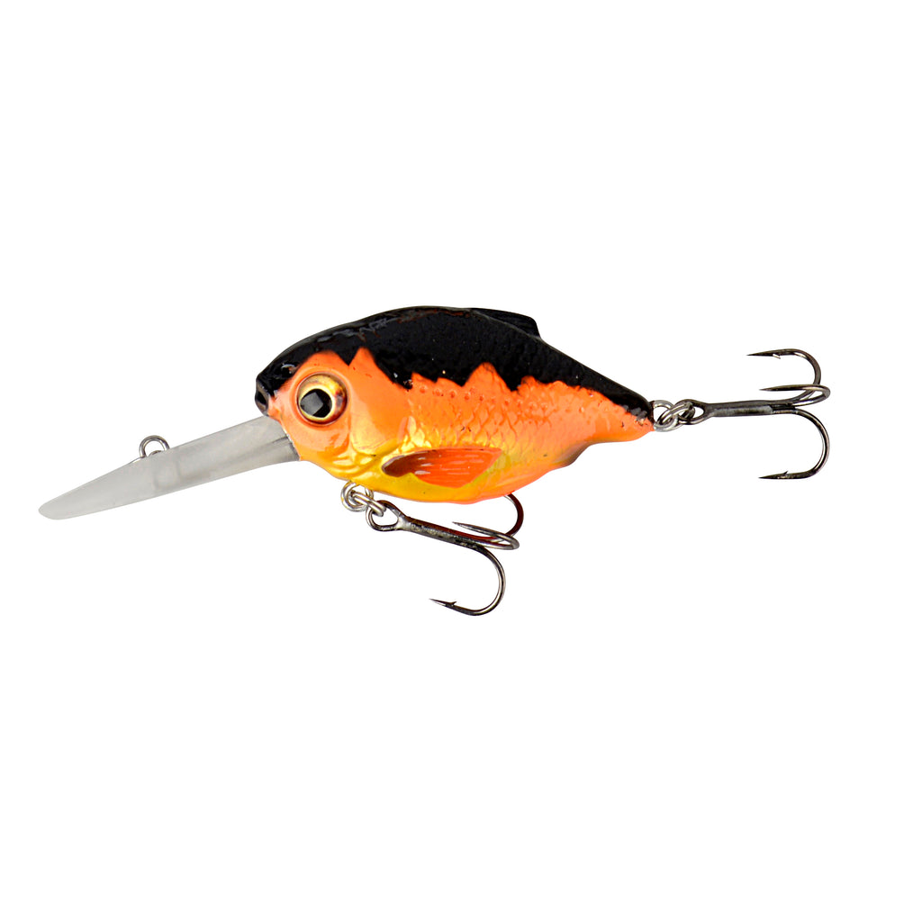3D Crucian Crank 34DR - Black & Orange (3.4cm - 3.4gr)