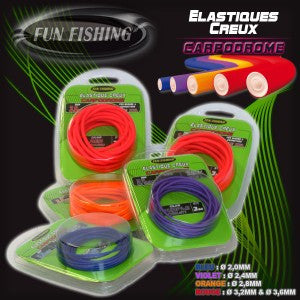 Fun Fishing - Holle elastiek 3.2mm (3 meter)