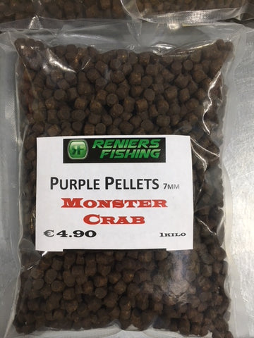 Reniers Fishing - Purple Pellet Monster Crab 7mm (1 kg)