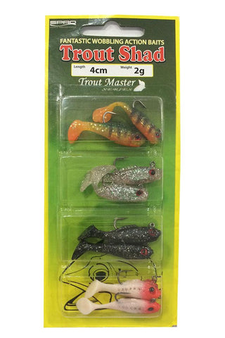 Shad assortiment (4cm) - 2gr