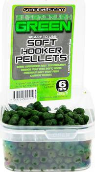 Sonubaits - Soft Hooker Pellets Supercrush Green 8mm