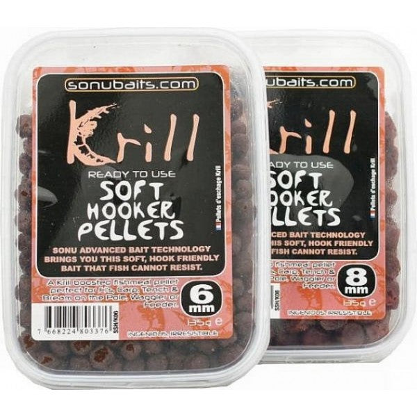Sonubaits - Soft Hooker Pellets Krill 8mm