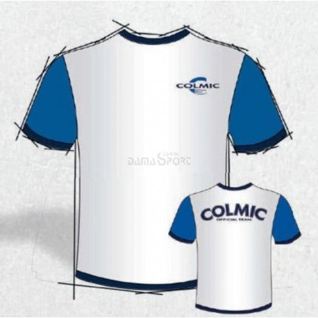 Colmic - T-shirt white & blu (medium)