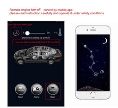 GSM Intelligent Car Alarm System Remote Engine Starter GPS Tracker Type Car Locator Without Car Key Inside Car For Benz ML GL R