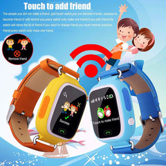 Kids Smart Watch Q90 GPS Tracker Silicone Strap