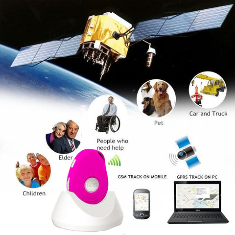 GPS elderly safety trackers. personal alarm, with big SOS button for emergency call,