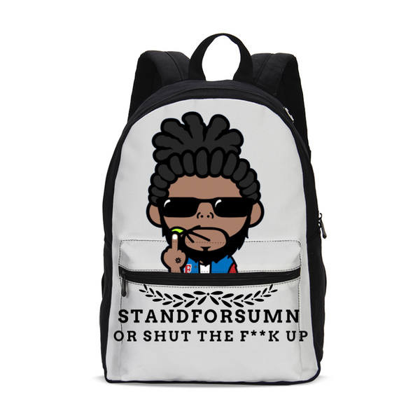 StandForSumn Or Shut Up Small Canvas Backpack