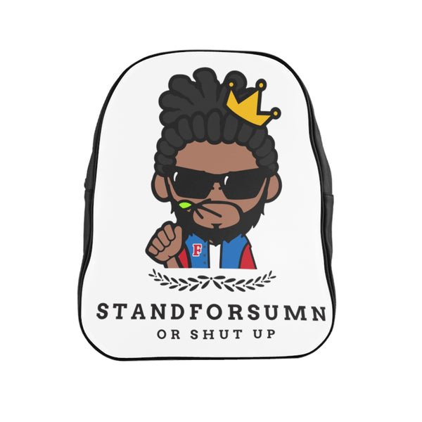 StandForSumn Or Shut Up Logo Leather Backpack