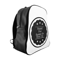 StandForSumn Or Shut Up Leather Backpack