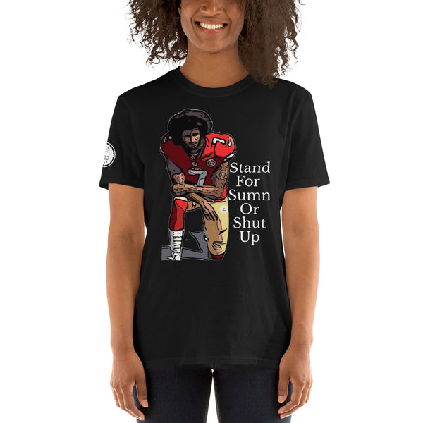 StandForSumn Or Shut Up (Limited) black Football T-shirt