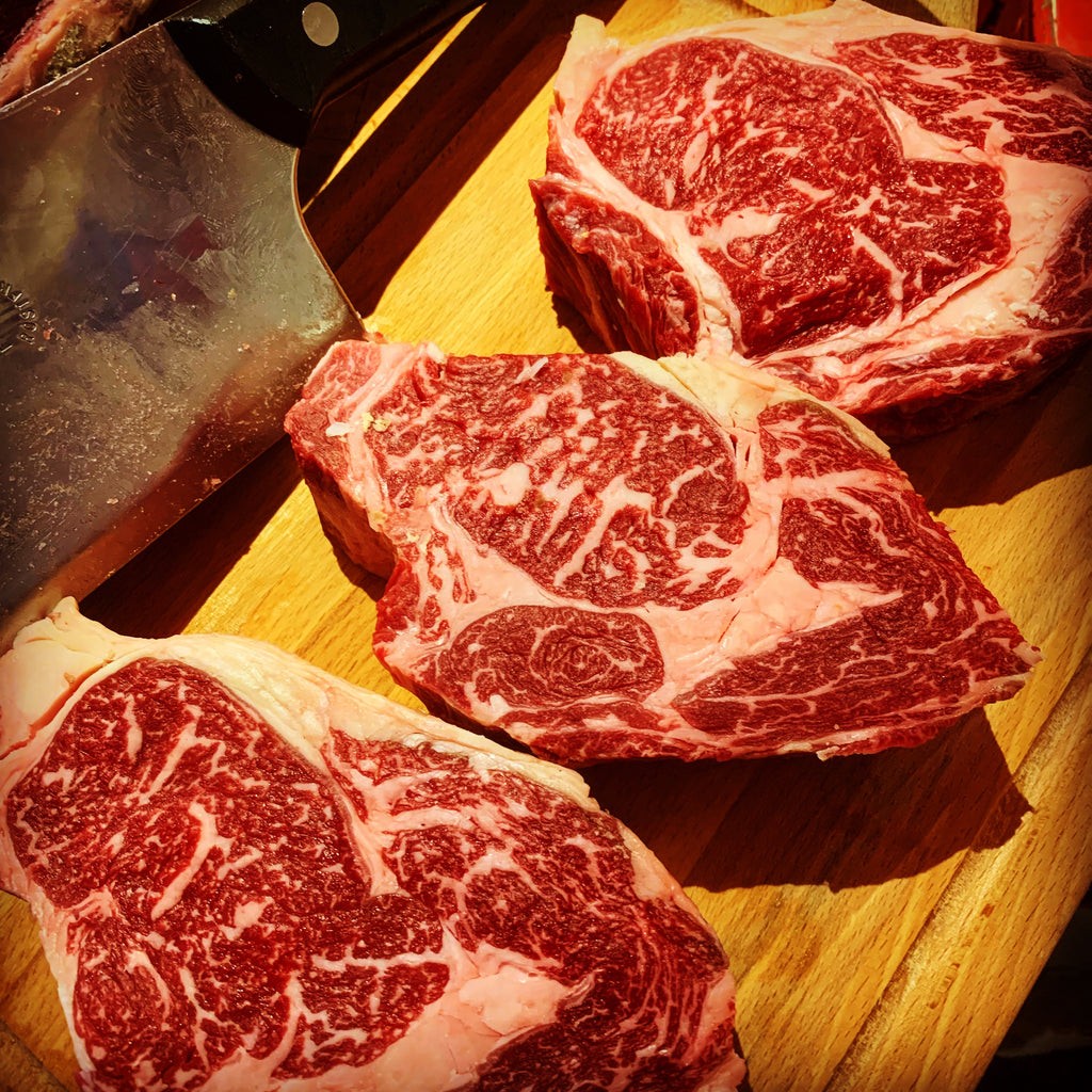Ribeye steak Holstein