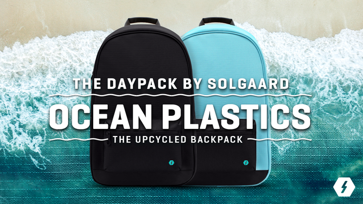 Our first backpack made from upcycled ocean plastics