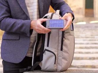 Backpack sports phone charger, anti-theft locker and hidden pockets