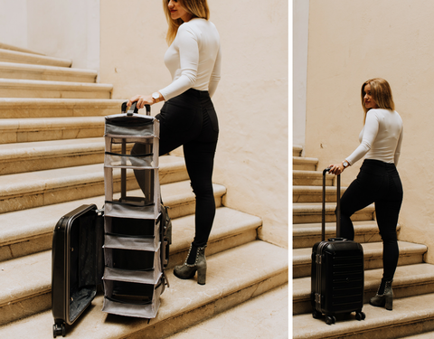 gifts for millennials, carry-on closet, lightweight carry-on luggage, closet suitcase