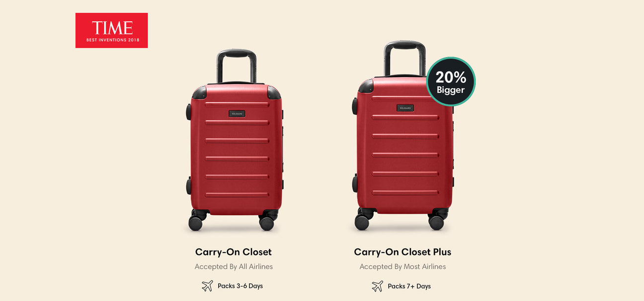 solgaard carry on closet difference of sizes