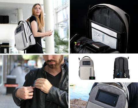 solar-powered backpack, lifepack backpack, gifts for millennials