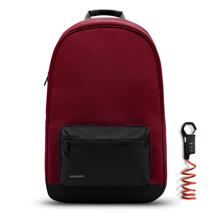 Moroccan Maroon | Daypack w/ lock