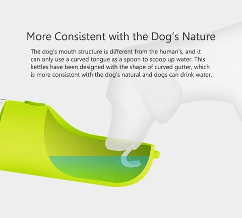Portable pet water bottle-dog drinking water dispenser cat drinking cup feeder antibacterial bowl-for outdoor walking travel by sooknewlook
