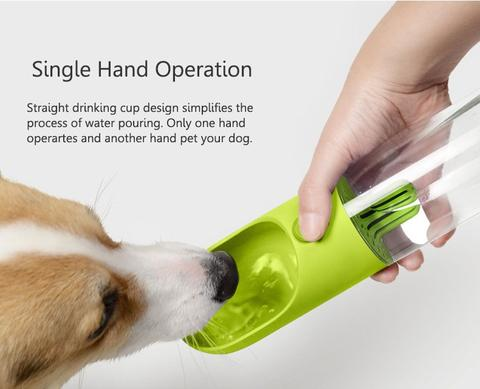 Portable pet water bottle dog drinking water dispenser cat drinking cup feeder antibacterial bowl for outdoor walking travel-by sooknewlook