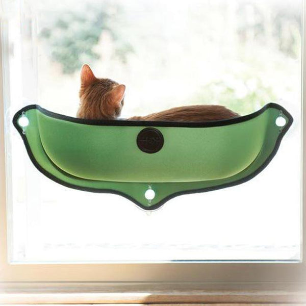 Cat Hammock Window Bed comfortable perch for pet cat green By sooknewlook