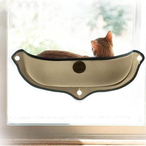 Cat Hammock Window Bed comfortable perch for pet cat khaki By sooknewlook