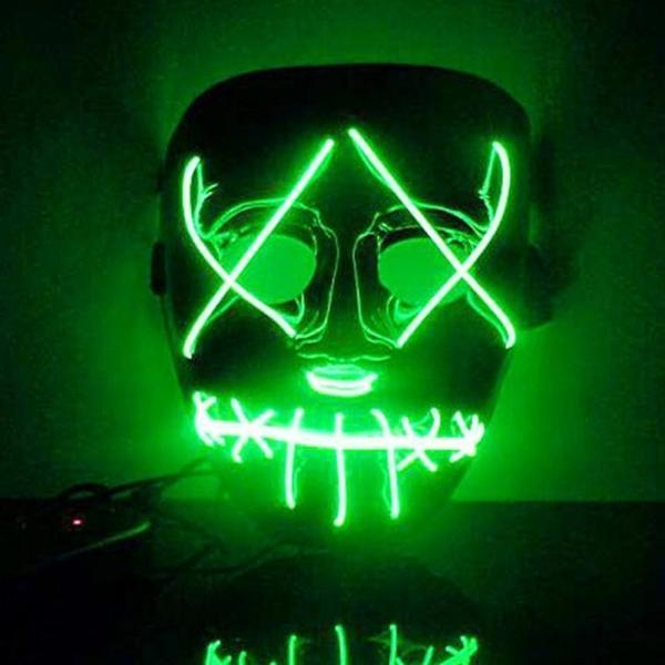 Led Purge Mask Halloween Mask LED Light Up Party Masks The Purge Election Year Great Funny Masks for Festival Cosplay Costume Supplies Glow In Dark By Sooknewlook 02