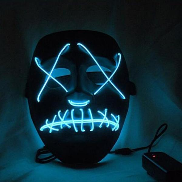 Led Purge Mask Halloween Mask LED Light Up Party Masks The Purge Election Year Great Funny Masks for Festival Cosplay Costume Supplies Glow In Dark By Sooknewlook 03