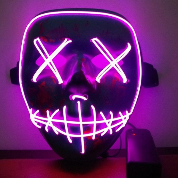 Led Purge Mask Halloween Mask LED Light Up Party Masks The Purge Election Year Great Funny Masks for Festival Cosplay Costume Supplies Glow In Dark By Sooknewlook 04