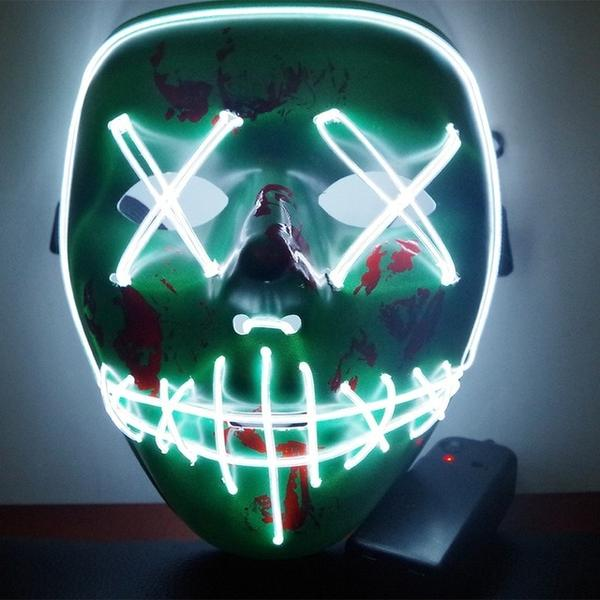 Led Purge Mask Halloween Mask LED Light Up Party Masks The Purge Election Year Great Funny Masks for Festival Cosplay Costume Supplies Glow In Dark By Sooknewlook 06