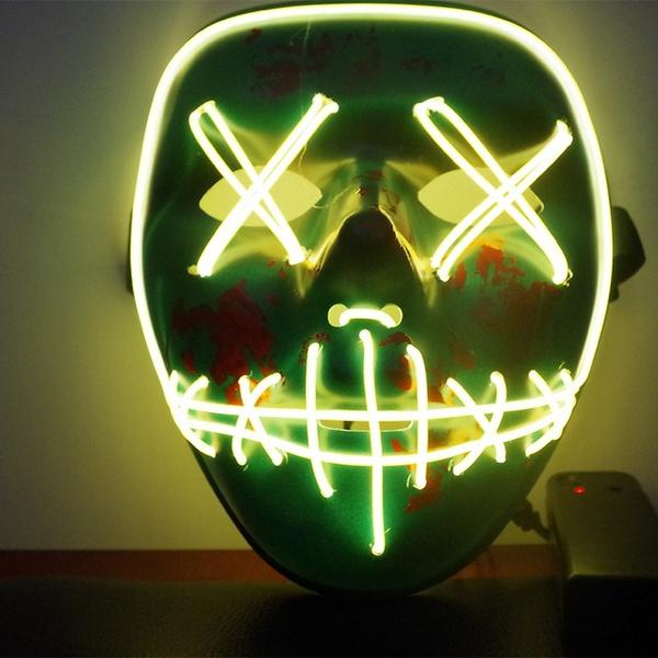 Led Purge Mask Halloween Mask LED Light Up Party Masks The Purge Election Year Great Funny Masks for Festival Cosplay Costume Supplies Glow In Dark By Sooknewlook 07