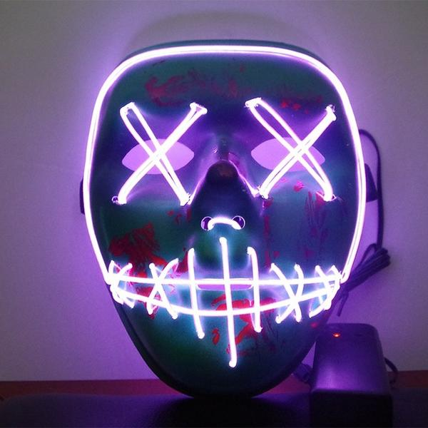 Led Purge Mask Halloween Mask LED Light Up Party Masks The Purge Election Year Great Funny Masks for Festival Cosplay Costume Supplies Glow In Dark By Sooknewlook 08