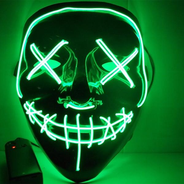 Led Purge Mask Halloween Mask LED Light Up Party Masks The Purge Election Year Great Funny Masks for Festival Cosplay Costume Supplies Glow In Dark By Sooknewlook 10