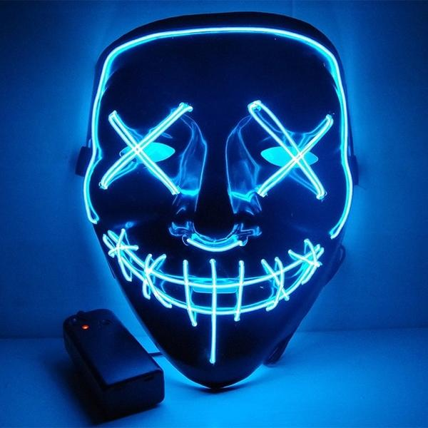 Led Purge Mask Halloween Mask LED Light Up Party Masks The Purge Election Year Great Funny Masks for Festival Cosplay Costume Supplies Glow In Dark By Sooknewlook 11