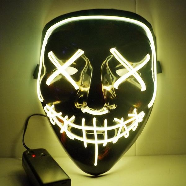 Led Purge Mask Halloween Mask LED Light Up Party Masks The Purge Election Year Great Funny Masks for Festival Cosplay Costume Supplies Glow In Dark By Sooknewlook 15