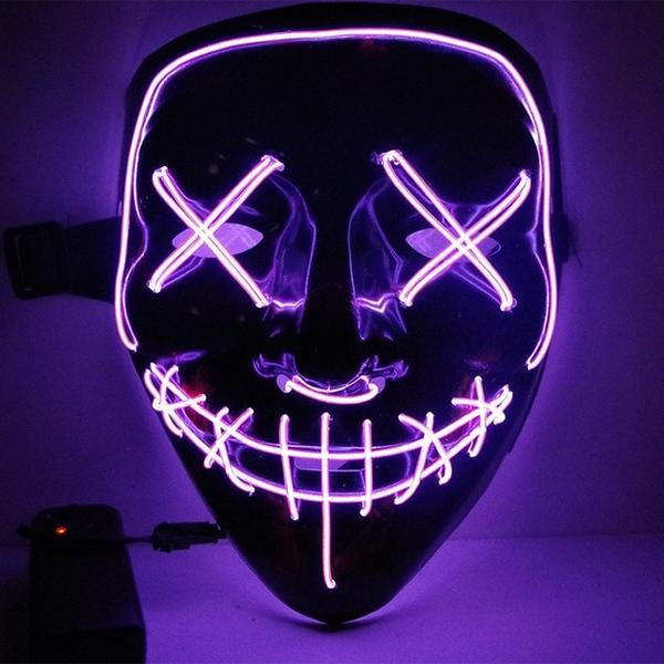 Led Purge Mask Halloween Mask LED Light Up Party Masks The Purge Election Year Great Funny Masks for Festival Cosplay Costume Supplies Glow In Dark By Sooknewlook 16