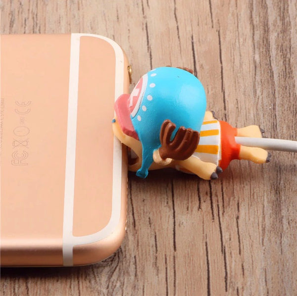 One Piece Cable Bite Protector for iPhone doll cartoon organizer winder chompers charger wire holder cord prevents breakage protector usb charging cute lightning cable protect and protective sleeves one piece characters TonyTony Chopper-by sooknewlook