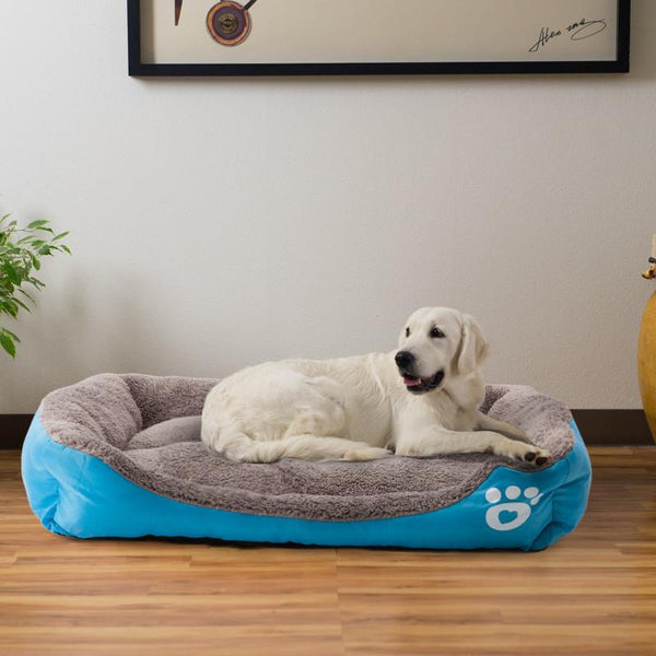Pet Warming Bed dog bed house soft nest dog baskets fall and winter warm kennel for cat puppy mat bed fleece Waterproof Bottom Mattress by sooknewlook