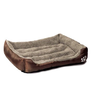 Pet Warming Bed dog bed house soft nest dog baskets fall and winter warm kennel for cat puppy mat bed fleece Waterproof Bottom Mattress color brown by sooknewlook