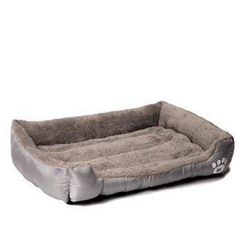 Pet Warming Bed dog bed house soft nest dog baskets fall and winter warm kennel for cat puppy mat bed fleece Waterproof Bottom Mattress color grey by sooknewlook