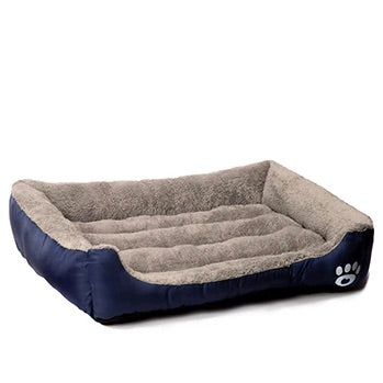 Pet Warming Bed dog bed house soft nest dog baskets fall and winter warm kennel for cat puppy mat bed fleece Waterproof Bottom Mattress color navy blue by sooknewlook