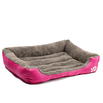 Pet Warming Bed dog bed house soft nest dog baskets fall and winter warm kennel for cat puppy mat bed fleece Waterproof Bottom Mattress color pink by sooknewlook