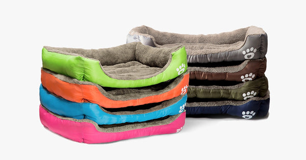 Pet Warming Bed dog bed house soft nest dog baskets fall and winter warm kennel for cat puppy mat bed fleece Waterproof Bottom Mattress colors by sooknewlook