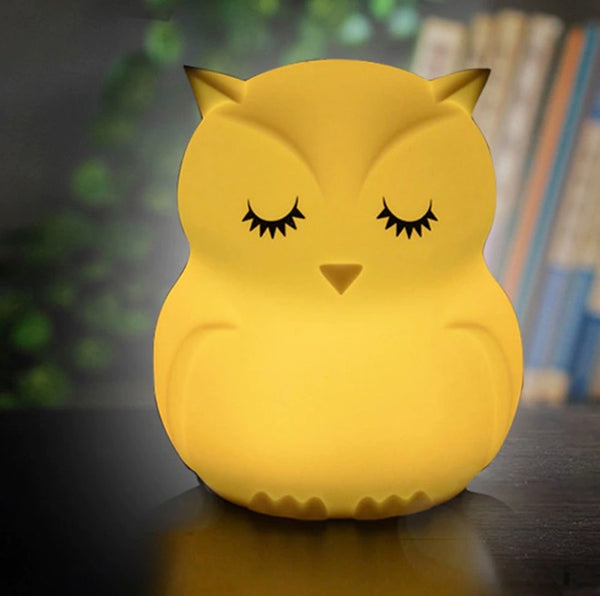 Sleeping Owl Led Night Light Baby Animals Color Changing Lamp Cartoon Silicone Led Lamp USB charging light Bedroom Decoration for Children Kids and Baby By Sooknewlook
