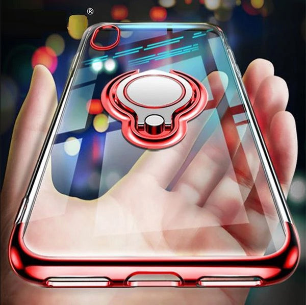 Ultra Thin Transparent iPhone Case With Magnetic Finger Ring Holder Ultra slim iPhone XS MAX XR X 8 7 6 6S Plus Car Magnetic Bracket Cases By Sooknewlook