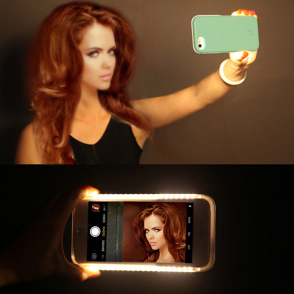 Selfie Lighting Phone Case, A selfie defines your character, your charm and your smile. The most important thing about it is the light exposure. The light has been designed and positioned like the Hollywood Vanity Mirror that will bring out your fine facial details and leaving out the imperfections producing that flawless picture.