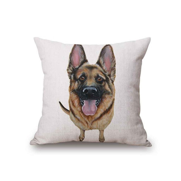 Dogs Cushion Cover Cartoon Style