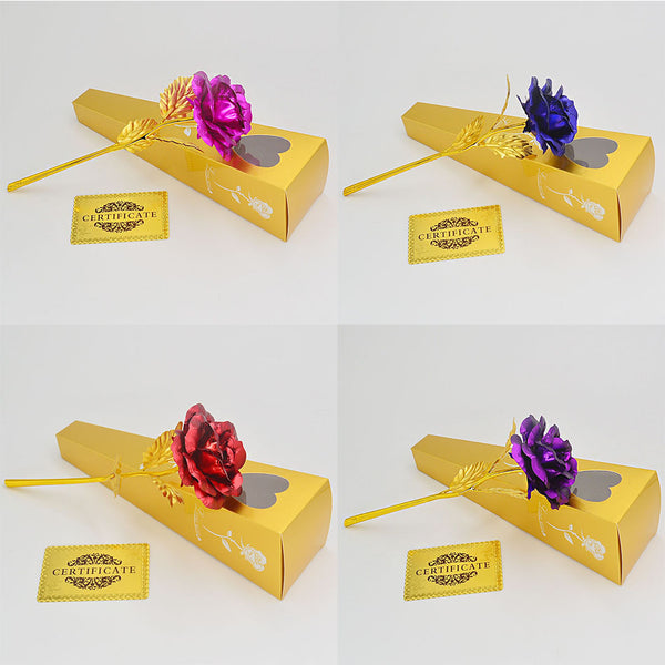 Romantic Personalized Gift : 24K Golden Rose