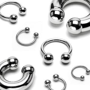 316L Surgical Steel High Polished Multi Use Horseshoe with Ball Ends - Pierced Universe