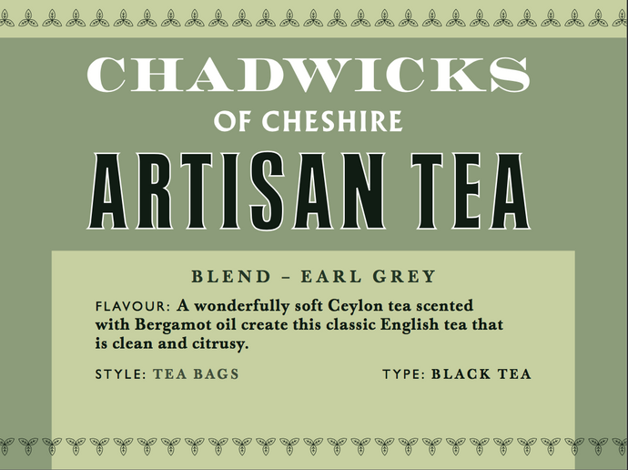 Earl Grey Pyramid tea bags - Chadwicks Of Cheshire Artisan Coffee